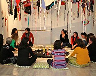 Mulleres en Círculo, exposición work-in-progres
